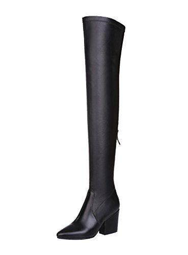 Guoar-Pointed-toe-Wedge-Over-the-Knee-Thigh-High-Black-Soft-Leather-Stretch-Boots-us95-0