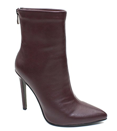 Guoar-Women-Pointed-Toe-Stiletto-High-Heels-Party-Dress-Ankle-Boots-Wine-Red-US85-0