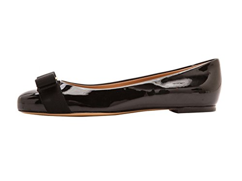 Guoar-Womens-Ballet-Flats-Big-Size-Chic-Bowkont-Flats-Round-Toe-Patent-Pumps-Shoes-for-Dressing-Work-Black-US-9-0