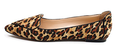 Guoar-Womens-Ballet-Flats-Big-Size-Ladies-Flats-Shoes-Pointed-Toe-Stitching-Pumps-Shoes-Leopard-US-11-0