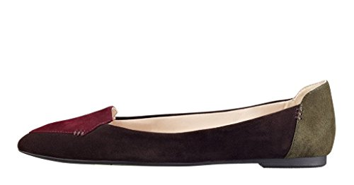 Guoar-Womens-Ballet-Flats-Big-Size-Ladies-Flats-Shoes-Pointed-Toe-Stitching-Pumps-Shoes-Multicolor-US-11-0