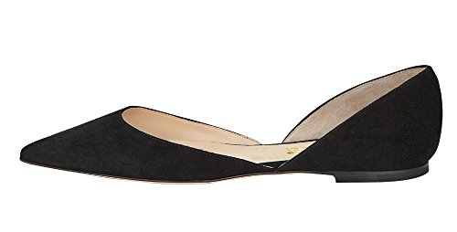 Guoar-Womens-Ballet-Flats-Big-Size-Sandals-Ladies-Shoes-Solid-Pointed-Toe-DOrsayTwo-Piece-Pumps-for-Wedding-Party-Dress-Black-US-9-0