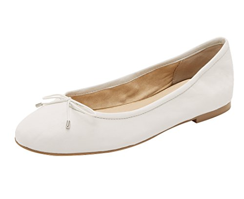 Guoar-Womens-Bowknot-Round-Toe-Comfort-Ballet-Flats-Shoes-Casual-No-Heels-Pumps-White-US13-0-0