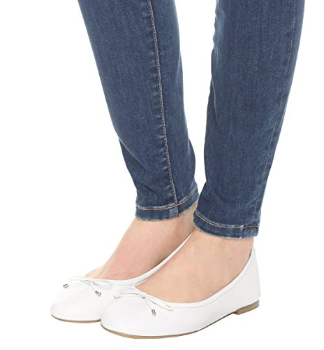 Guoar-Womens-Bowknot-Round-Toe-Comfort-Ballet-Flats-Shoes-Casual-No-Heels-Pumps-White-US13-0-2