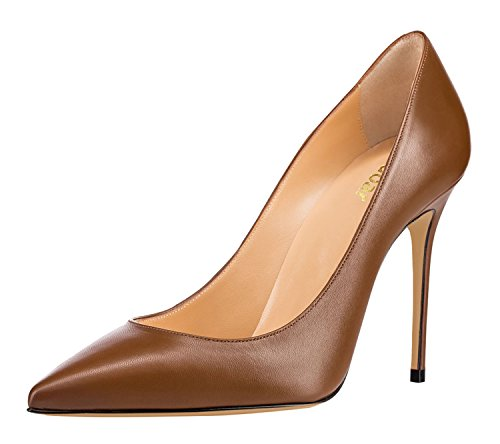 Guoar-Womens-Classic-Pointed-Toe-High-Heels-Stiletto-PU-Pumps-Dress-Shoes-Sandals-size-5-12-US-Coffee-US-7-0