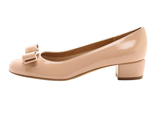 Guoar-Womens-Closed-Toe-Block-Heels-Patent-Bowknot-Pumps-Shoes-Low-Heels-For-Dress-Party-Nude-US-6-0