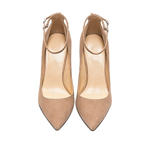 Guoar-Womens-Comfort-Pointed-Toe-High-Heel-Shoes-Stiletto-Pumps-Buckle-Ankle-Strap-size-5-12-Nude-US-9-0-1