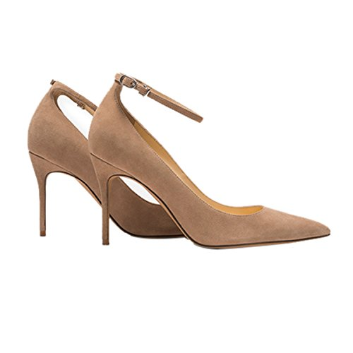 Guoar-Womens-Comfort-Pointed-Toe-High-Heel-Shoes-Stiletto-Pumps-Buckle-Ankle-Strap-size-5-12-Nude-US-9-0-2