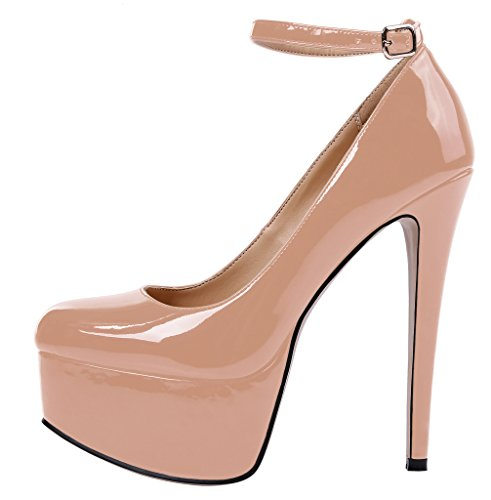 Guoar-Womens-Court-Shoes-High-Heel-Big-Size-Ankle-Strap-Shoes-with-Platform-Patent-Pumps-for-Wedding-Party-Dress-Nude-US12-0
