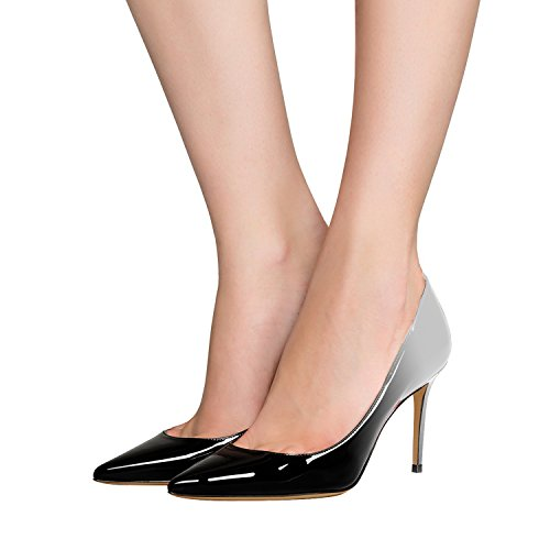 Guoar-Womens-Flattering-Gradient-Pointed-Toe-High-Heels-Stiletto-Grossy-Pumps-Dress-Shoes-size-5-12-Black-Grey-US-95-0-2