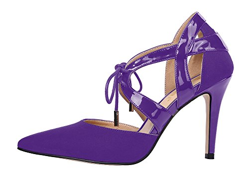 Guoar-Womens-High-Heel-Sandals-Big-Size-Solid-Shoes-Pointed-Toe-Dress-Lace-up-Pumps-for-Wedding-Party-Purple-US9-0