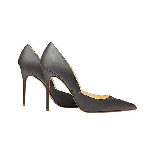 Guoar-Womens-Pointed-Toe-High-Heel-Shoes-Stiletto-Pumps-V-Cut-Dress-Shoes-size-5-12-Gun-Satin-US-8-0-1