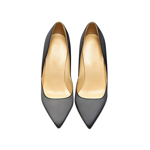 Guoar-Womens-Pointed-Toe-High-Heel-Shoes-Stiletto-Pumps-V-Cut-Dress-Shoes-size-5-12-Gun-Satin-US-8-0-2