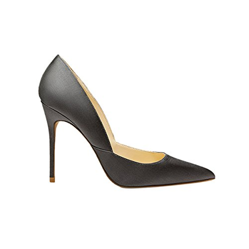 Guoar-Womens-Pointed-Toe-High-Heel-Shoes-Stiletto-Pumps-V-Cut-Dress-Shoes-size-5-12-Gun-Satin-US-8-0