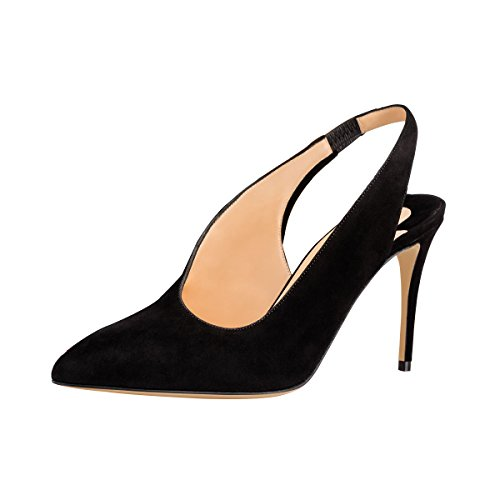 Guoar-Womens-Pointed-Toe-High-Heels-Stiletto-Slingback-Pumps-Evening-Shoes-size-5-12-Black-US-5-0-0