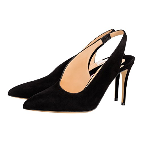 Guoar-Womens-Pointed-Toe-High-Heels-Stiletto-Slingback-Pumps-Evening-Shoes-size-5-12-Black-US-5-0-1