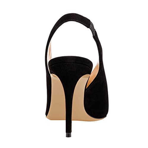 Guoar-Womens-Pointed-Toe-High-Heels-Stiletto-Slingback-Pumps-Evening-Shoes-size-5-12-Black-US-5-0-3