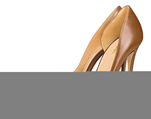 Guoar-Womens-Pointy-Toe-Stiletto-High-Heesl-DOrsay-Pumps-Party-Wedding-Prom-Dress-Shoes-size-5-12-Brown-PU-US-7-0