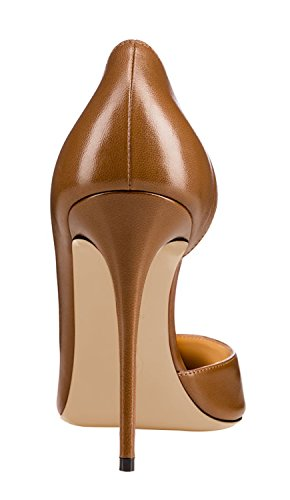 Guoar-Womens-Pointy-Toe-Stiletto-High-Heesl-DOrsay-Pumps-Party-Wedding-Prom-Dress-Shoes-size-5-12-Brown-PU-US-8-0-1