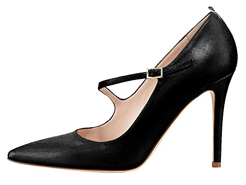 Guoar-Womens-Stiletto-Big-Size-Court-Shoes-Mary-Janes-Buckle-Pointed-Toe-PU-Pump-for-Wedding-Party-Dress-Black-US14-0