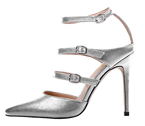 Guoar-Womens-Stiletto-Big-Size-Shoes-Heel-Sandals-Solid-Pointed-Toe-Gladiator-Buckle-Pumps-for-Wedding-Party-Dress-Silver-US12-0