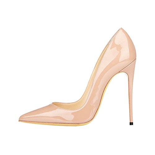 Guoar-Womens-Stiletto-Big-Size-Shoes-Pointed-Toe-Patent-Ladies-Solid-Pumps-for-Work-Place-Dress-Party-Nude-US9-0