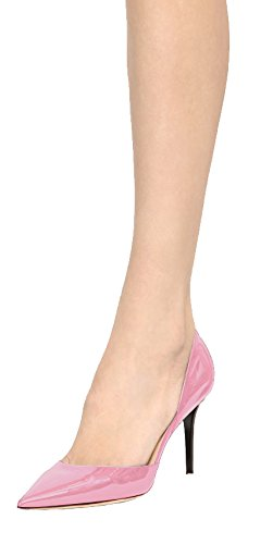 Guoar-Womens-Stiletto-Heel-Sandals-Big-Size-Solid-Shoes-Pointed-Toe-DOrsayTwo-Piece-Patent-Pumps-for-Wedding-Party-Dress-Pink-US6-0-2