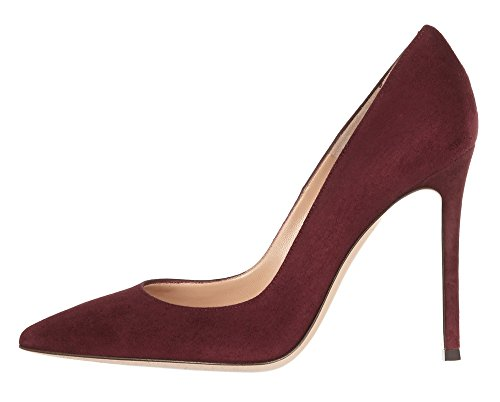 Guoar-Womens-Stiletto-Heel-Sandals-Big-Size-Solid-Shoes-Pointed-Toe-Suede-Pump-for-Wedding-Party-Dress-Wine-US75-0