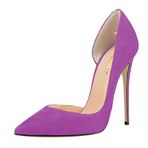 Guoar-Womens-Stiletto-Heels-Sandals-Big-Size-Solid-Shoes-Pointed-Toe-DOrsayTwo-Piece-Pumps-for-Wedding-Party-Dress-Violet-US15-0-0