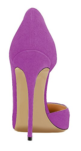Guoar-Womens-Stiletto-Heels-Sandals-Big-Size-Solid-Shoes-Pointed-Toe-DOrsayTwo-Piece-Pumps-for-Wedding-Party-Dress-Violet-US15-0-1