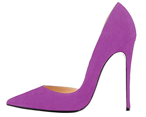 Guoar-Womens-Stiletto-Heels-Sandals-Big-Size-Solid-Shoes-Pointed-Toe-DOrsayTwo-Piece-Pumps-for-Wedding-Party-Dress-Violet-US15-0