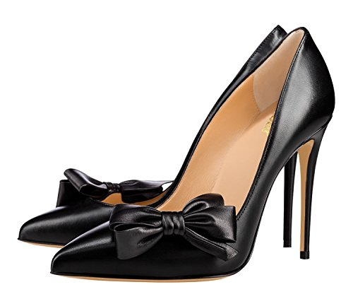 guoar womens stiletto pointed toe high heels pumps bowknot