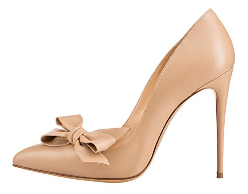 Guoar-Womens-Stiletto-Pointed-Toe-High-Heels-Pumps-Bowknot-Dress-Prom-Shoes-size-5-12-US-Nude-US-6-0-0