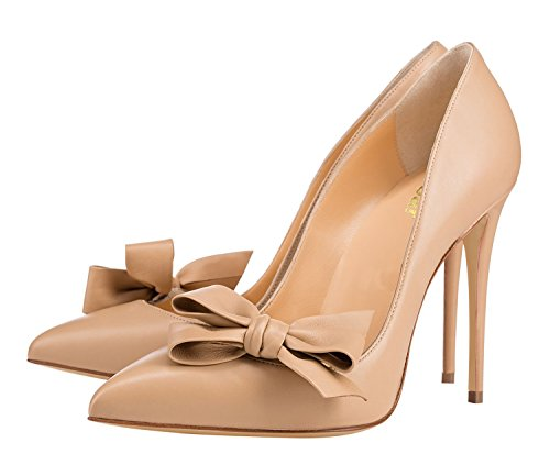 Guoar-Womens-Stiletto-Pointed-Toe-High-Heels-Pumps-Bowknot-Dress-Prom-Shoes-size-5-12-US-Nude-US-6-0-1