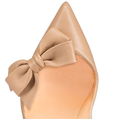 Guoar-Womens-Stiletto-Pointed-Toe-High-Heels-Pumps-Bowknot-Dress-Prom-Shoes-size-5-12-US-Nude-US-6-0-2