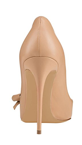 Guoar-Womens-Stiletto-Pointed-Toe-High-Heels-Pumps-Bowknot-Dress-Prom-Shoes-size-5-12-US-Nude-US-6-0-3