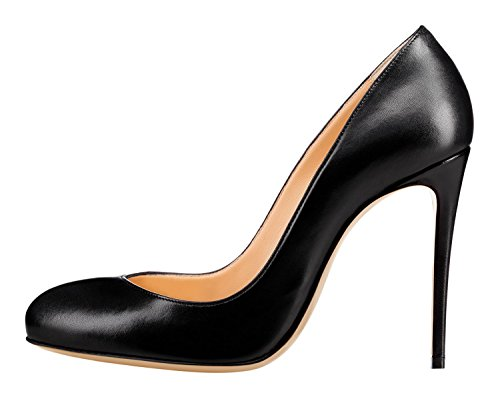 Guoar-Womens-Stiletto-Round-Toe-High-Heels-Pumps-V-cut-Top-Prom-Party-Dress-Shoes-size-5-12-US-Black-US-12-0-0