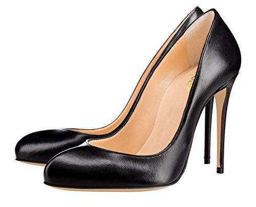 Guoar-Womens-Stiletto-Round-Toe-High-Heels-Pumps-V-cut-Top-Prom-Party-Dress-Shoes-size-5-12-US-Black-US-12-0-1