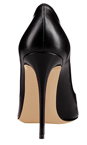 Guoar-Womens-Stiletto-Round-Toe-High-Heels-Pumps-V-cut-Top-Prom-Party-Dress-Shoes-size-5-12-US-Black-US-12-0-2
