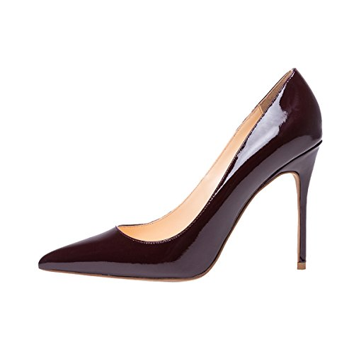 Guoar-womens-Pointed-toe-Shallow-Mouth-10CM-Stiletto-high-heel-Red-wine-pumps-Size-4-12-US-6-0-0