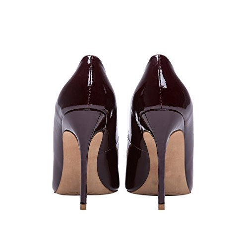 Guoar-womens-Pointed-toe-Shallow-Mouth-10CM-Stiletto-high-heel-Red-wine-pumps-Size-4-12-US-6-0-3