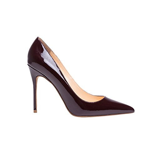 Guoar-womens-Pointed-toe-Shallow-Mouth-10CM-Stiletto-high-heel-Red-wine-pumps-Size-4-12-US-6-0-4