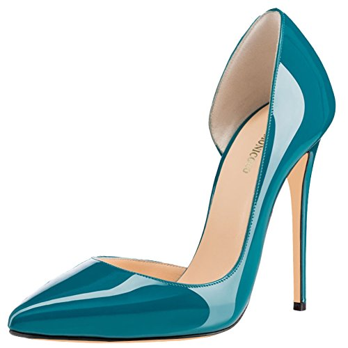 MONICOCO-Womens-High-Spike-Heel-Cut-Out-DOrsay-Pointed-Toe-Dress-Pump-for-Party-Wedding-Teal-11-BM-US-0-0