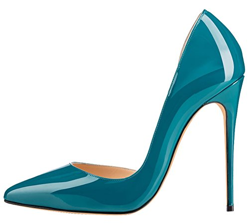 MONICOCO-Womens-High-Spike-Heel-Cut-Out-DOrsay-Pointed-Toe-Dress-Pump-for-Party-Wedding-Teal-11-BM-US-0