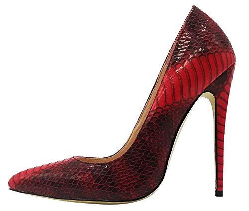 MONICOCO-Womens-Pointed-Toe-Snake-Print-Party-Pump-Shoes-Red-10-M-US-0