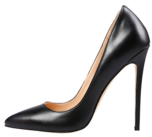 MONICOCO-Womens-Stiletto-Heel-Plus-Size-Shoes-Pointed-Toe-Pump-PU-Black-95-US-0