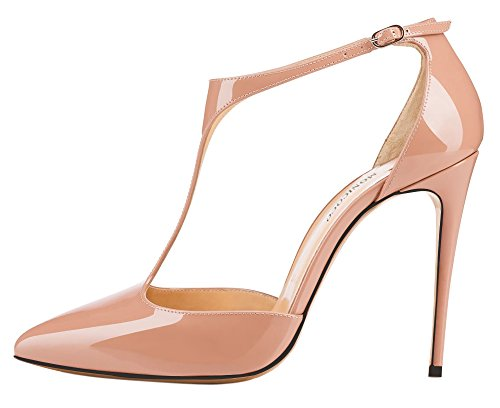 MONICOCO-Womens-Stiletto-Heel-Shoes-T-Strap-Ankle-Strap-Patent-Pump-For-Wedding-Party-Dress-Nude-15-BM-US-0