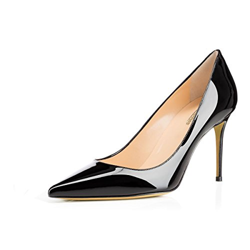 Modemoven-Womens-Black-Pointed-Toe-Pumps-Slip-on-Office-Business-High-Heels-Sexy-Stiletto-Shoes-85-M-US-0