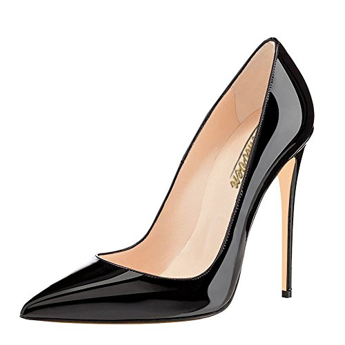 Modemoven-Womens-Black-Pointy-Toe-High-Heels-Slip-On-Stilettos-Large-Size-Wedding-Party-Evening-Pumps-Shoes-5-M-US-0