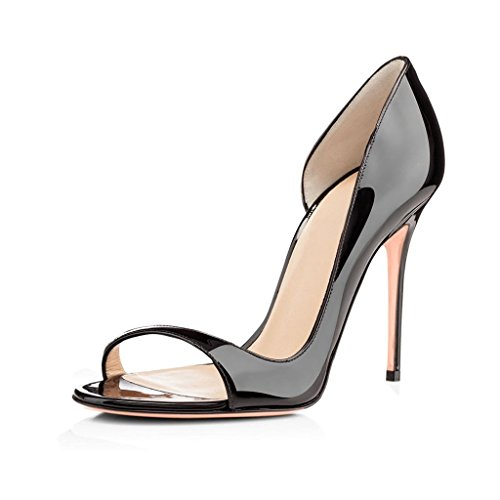 Soireelady-Womens-High-Heel-Pumps-Cut-Out-Open-Toe-Sandals-10cm-Stilettos-Wedding-Dress-Black-US6-0-0